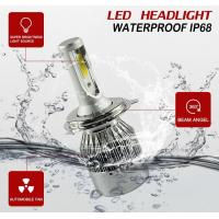 China Auto High Power LED Headlights For Cars 70w 7600lm Waterproof  IP68 wholesale