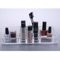 China Crystal Clear Plastic Makeup Display Stand Organizer Tray Multifunction wholesale