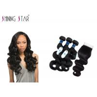Tangle Free Unprocessed Virgin Remy Indian Hair / No Acid Unprocessed Indian Remy Hair