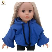 China Blue hooded sweater doll cloothes wholesale