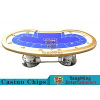 China 10 Players Casino Poker Table / Custom Poker Tables With Disc Shape Legs wholesale