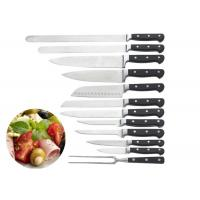 China Cooking Stainless Steel Knife Set ABS Smithing Shank With Triple Rivets wholesale