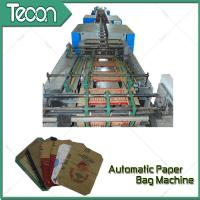 China Bevel Gear Full Automatic Paper Bag Making Machine with Siemens Screen Control wholesale