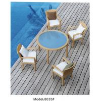 China 5-piece resin wicker rattan outdoor patio dining set with 4 armchairs-8035 wholesale
