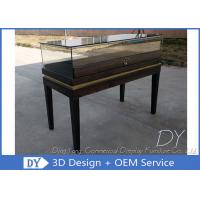 China Black Wooden Custom Glass Display Cases , Exhibition Display Counter‎ wholesale