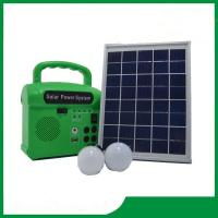 China 10w portable solar energy kits for home with phone charger, FM radio, MP3 for hot selling wholesale
