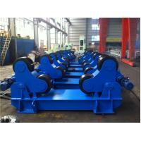 China 100T Rubber Wheels Pipe Welding Turntable For Pressure Vessel / Piping Industry wholesale