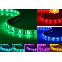 China LED RGB Strips SMD5050 IP65 single color waterproof DC12V 60pcs one meter 14.4W wholesale