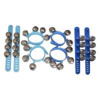China Small Kids Musical Instrument Blue Wrist Bell Set Orff Instruments wholesale