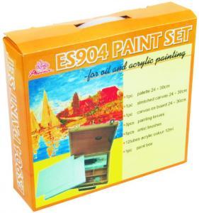 China 5pcs Painting Brushes Acrylic Art Set Drawing Kits For Beginners 12pcs Acrylic Colour 12ml wholesale