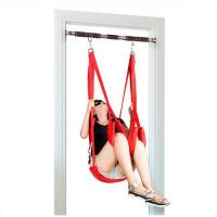China Nylon Bondage Sex Toys Door Swing Restraints For Adult Game Black Red Color wholesale