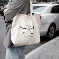 China Shoulder Carrying Cotton 30cm Canvas Tote Bags For Daily wholesale
