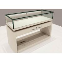 China OEM Matte White Wooden Glass Display Plinth / Retail Shop Display wholesale