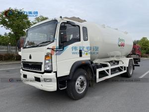 China Sinotruk HOWO 4*2 15m3 15000Liters 12000L Liquid Propane Gas Bobtail 15cbm 7.5ton 6mt LPG Tank Truck wholesale