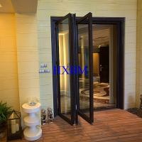 China European Style double glazed Aluminum Folding Doors For Building Contractors wholesale