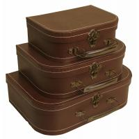 Buy cheap Vintage Suitcase Size Easy To Carry Model Cardboard Storage Boxes from wholesalers