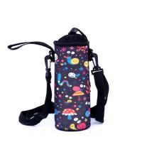 China Wholesale Custom Neoprene Water Bottle Holder With Adjustable Shoulder Strap. size:18cmc*6.8cm  Material is neoprene wholesale