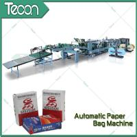 Quality High Speed Paper Bag Bottomer Machine With Inner Outer Strength Sheet for sale