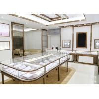 China Luxury Design Showroom Display Cases Eco - Friendly Material Covered With Glass Panels wholesale