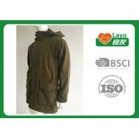 Buy cheap Olive Color Waterproof Shooting Jacket 100% Polyester Windbreak Thermal For Men product