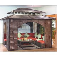 China China garden house outdoor pavilion with sofa garden rattan tents 1113 wholesale