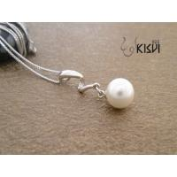 China Quality guarantee sterling silver gemstone pendant with immitation pearl W-VB856 wholesale