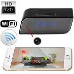 T8S 720P Alarm Clock WIFI P2P IP Spy Hidden Camera Home Security CCTV Surveillance DVR with Android/iOS App Control