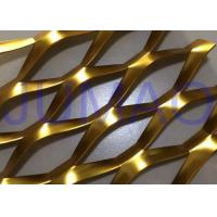 China 3D Anodized Expanded Aluminium Mesh , Gold Flattened Expanded Metal Screen Mesh on sale