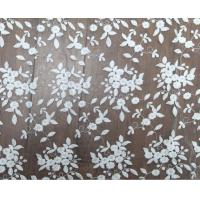 China 125cm Polyester White Embroidered Mesh Lace Fabric For Wedding Dress Wholesale on sale