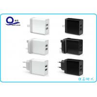 China 17W 2-Ports Smart USB Charger , USB Wall Charger Dual USB Charger with Foldable Plug wholesale
