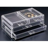 China Non-toxicity Clear Acrylic Storage Boxes , Acrylic Organic Makeup Storage Organizer wholesale