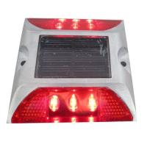 China Die Casting Aluminum Solar LED Road Stud 6 LEDS Powered By Mono Crystalline Solar Panel wholesale
