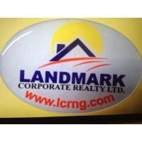 China Land Mark Reflective Resin Epoxy Dome Stickers Corporate Realty LTD , 75MM Length wholesale
