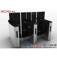 China Access Control Turnstile Security Gates Tempered Glass Sliding Material wholesale
