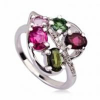 Quality Fashionable Crystal Silver Rings K-BC-A986 for sale
