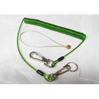 China Quick Release Colorful Tool Coiled Lanyards with Clips 2pcs and SS Split Ring and Wire loop connector wholesale