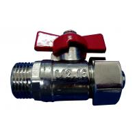 Quality CFull Port Nickel Plated Brass Ball Valve Locking Handle For Gas for sale