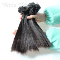 China Short Double Drawn Funmi Virgin Hair With Silky Straight Tangle Free wholesale