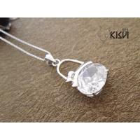 China OEM / ODM shiny and clean silver gemstone pendant with competitive price wholesale
