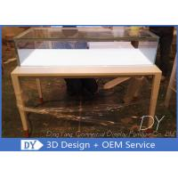 Buy cheap Simple Usefull Modern White Wood Glass Counter Display For Jewelry from wholesalers