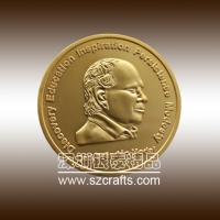 China custom 3D souvenir two pound euro coins, celebrity commemorative coin wholesale