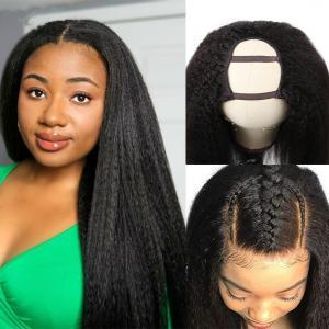 China 8A Full Hair Wigs Yaki Straight U Part Glueless Human Hair Kinky wholesale