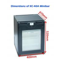 China Single Door Commercial Hotel Mini Bar Refrigerator Electric For Home / Car wholesale