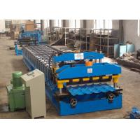 China Metal Roof Roll Forming Machine , Color Steel Corrugated Roofing Sheet Making Machine wholesale