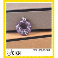 China Elegant designs new fashion purple shamballa handcrafted crystal jewelry for gift wholesale