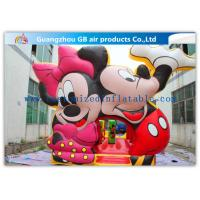 China Beautiful Mickey Mouse Kids Inflatable Bouncy Castle Cartoon With CE / UL Blower wholesale