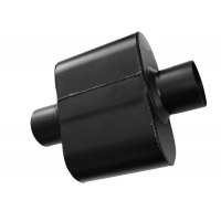 China Black Painted Ss409 2.5 In Single Chamber Race Muffler wholesale