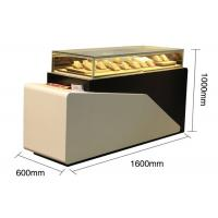 China Lighted Jewelry Display Case , Large Wooden Display Plith In White Lacquer Finished wholesale