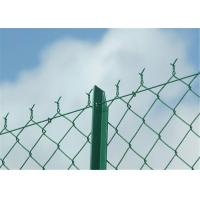 China Rectangle PVC Coated Chain Link Fence Galvanized PVC Coated Wire Mesh Fencing wholesale