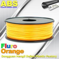 Quality Eco Friendly ABS 3D Printer Filament 1.75mm Fluro Orange 3D Printing Filament for sale